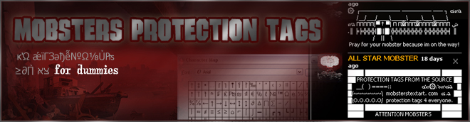 Mobsters Protection Tags for Dummies